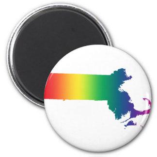 Igualdad del orgullo gay del arco iris de imán redondo 5 cm