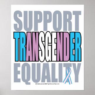 Igualdad del transexual de la ayuda posters
