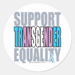Igualdad del transexual de la ayuda etiquetas redondas