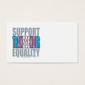 Igualdad del transexual de la ayuda tarjetas de visita
