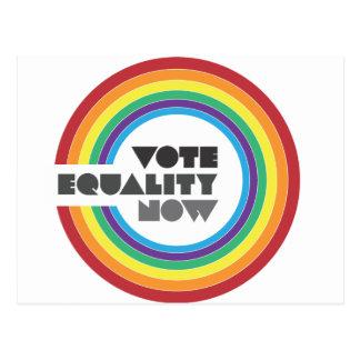 igualdad del voto ahora tarjeta postal