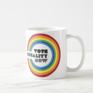 igualdad del voto ahora taza de café
