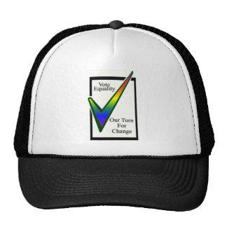 Igualdad del voto gorras