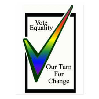 Igualdad del voto tarjetas postales