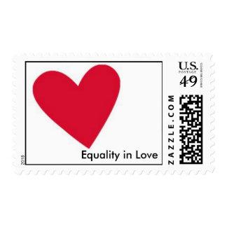 Igualdad en franqueo del amor
