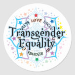 Igualdad Lotus del transexual Pegatinas Redondas