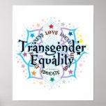 Igualdad Lotus del transexual Póster