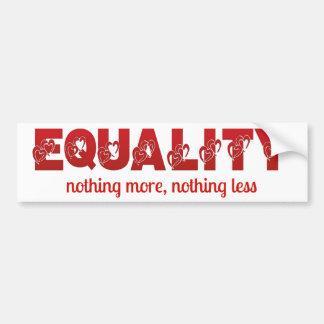Igualdad nada más, nada menos pegatina para el pegatina para auto