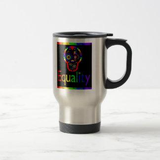 Igualdad para cada uno - incluso los muertos taza de viaje de acero inoxidable