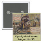 Igualdad para todas las mujeres, paso de la ayuda  pin cuadrada 5 cm