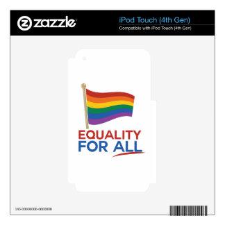 Igualdad para todos calcomanías para iPod touch 4G