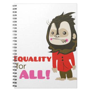 Igualdad para todos libretas
