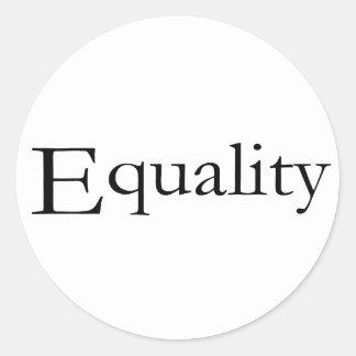 Igualdad Pegatina Redonda