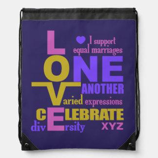 Igualdad/un bolso de la boda del personalizado del mochila