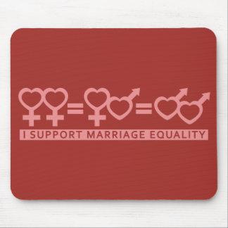 Igualdad/un mousepad de la boda del personalizado