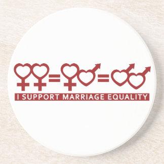 Igualdad/un práctico de costa de la boda del perso posavasos personalizados