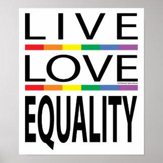 Igualdad viva del amor posters