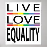 Igualdad viva del amor póster