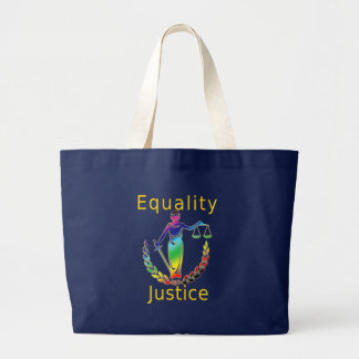 Igualdad y justicia bolsa tela grande