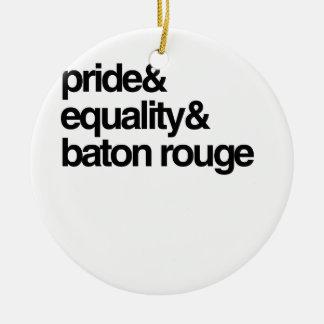 IGUALDAD Y ORGULLO - .PNG DE BATON ROUGE ORNAMENTO PARA ARBOL DE NAVIDAD