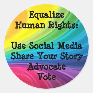 Iguale al pegatina de los derechos humanos