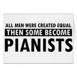 Igualmente creado diseño de los pianistas felicitación
