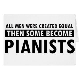 Igualmente creado diseño de los pianistas tarjeta de felicitación