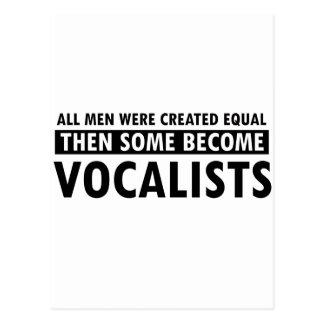 Igualmente creado diseño de los vocalistas tarjetas postales