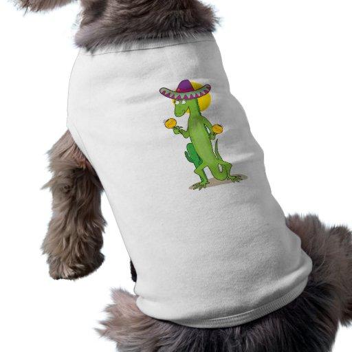 Iguana animal del alfabeto camiseta de perro