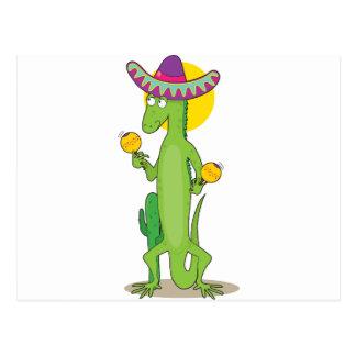 Iguana animal del alfabeto tarjetas postales