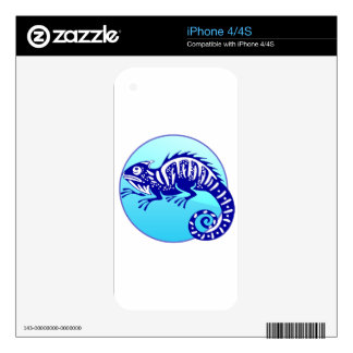 IGUANA BLUE CIRCLE PRODUCTS DECALS FOR THE iPhone 4