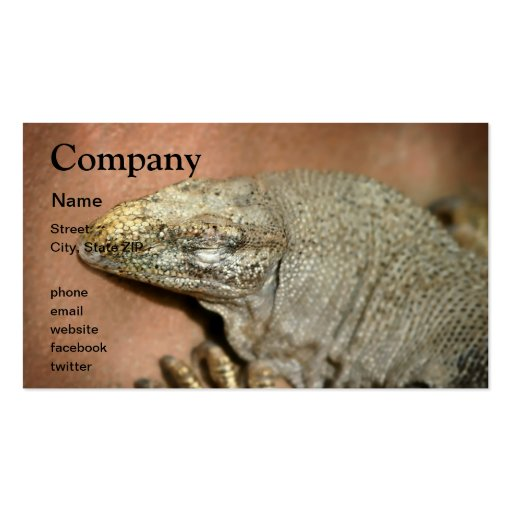 Iguana Double-Sided Standard Business Cards (Pack Of 100)