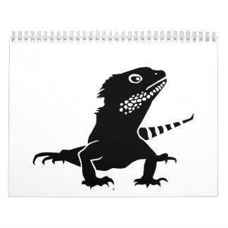 Iguana Calendario De Pared