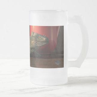 Iguana Coffee Frosted Glass Beer Mug