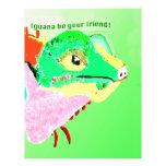 Iguana colorida membretes personalizados