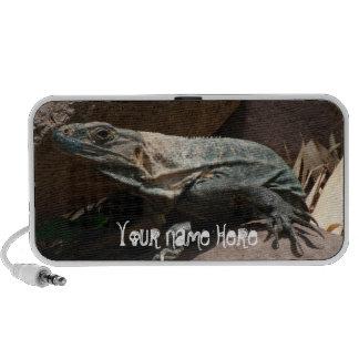 Iguana curiosa; Personalizable Mp3 Altavoces