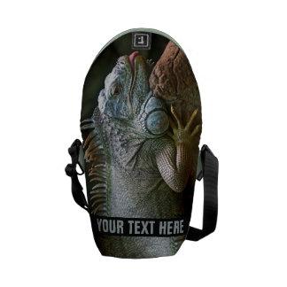 Iguana custom messenger bag