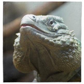 Iguana de Gran Caimán Servilletas Imprimidas