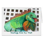 Iguana de Key West (saludos) Felicitación