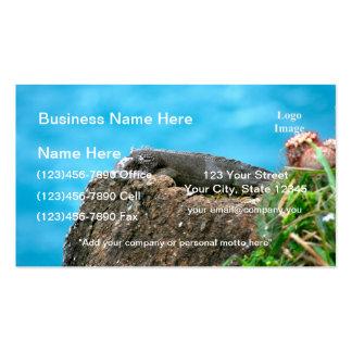 Iguana de mirada agradable de St Thomas U.S.V.I Tarjetas De Visita