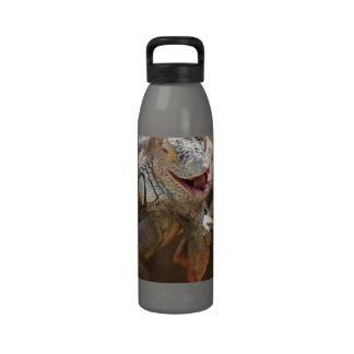 Iguana de risa botella de agua reutilizable