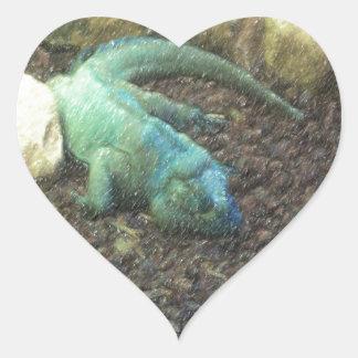 Iguana Dracon Heart Sticker