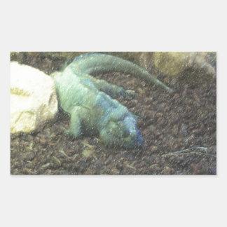 Iguana Dracon Rectangular Sticker