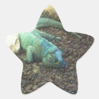 Iguana Dracon Star Sticker