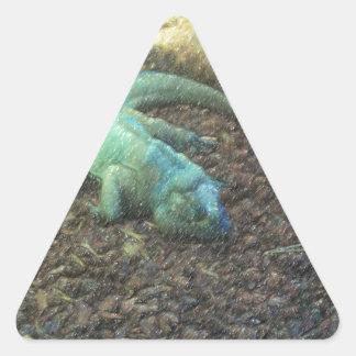 Iguana Dracon Triangle Sticker
