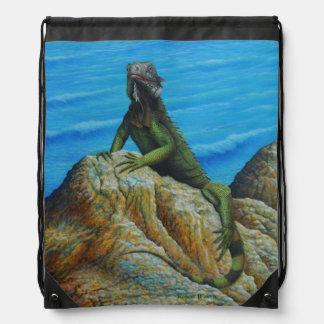 Iguana Drawstring Backpack