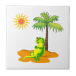Iguana en el desierto azulejos