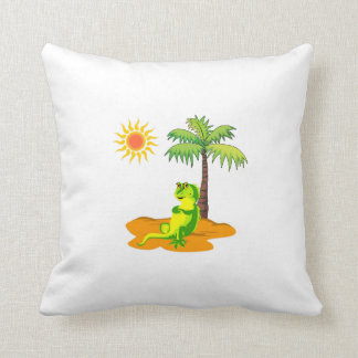 Iguana en el desierto cojín