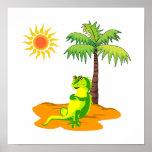 Iguana en el desierto impresiones