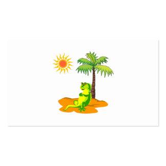 Iguana en el desierto tarjeta personal